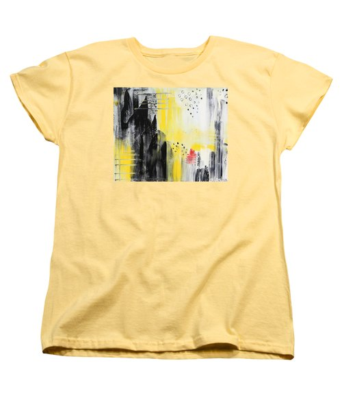 Women's T-Shirt (Standard Cut) featuring the painting Freedom by Sladjana Lazarevic