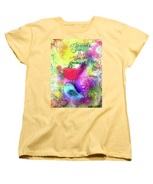 Friends Always Women's T-Shirt (Standard Cut) by Claire Bull