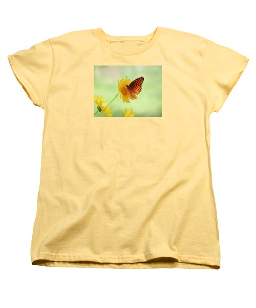 Fritillary Fun Women's T-Shirt (Standard Cut) by MTBobbins Photography