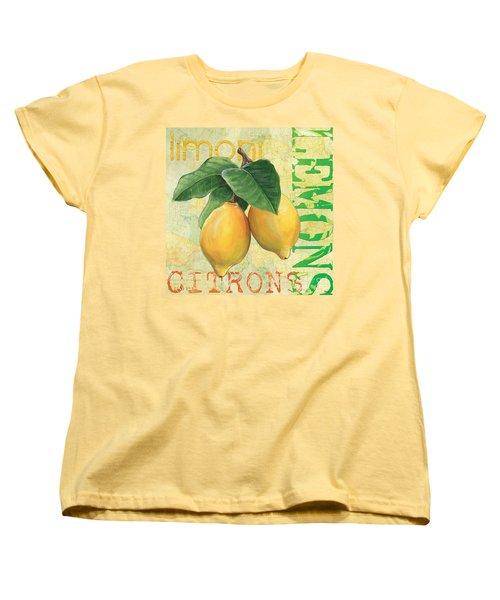 Froyo Lemon Women's T-Shirt (Standard Cut) by Debbie DeWitt
