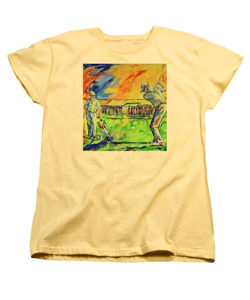 Fruehen Morgen Spiel   Early Morming Game Women's T-Shirt (Standard Cut) by Koro Arandia