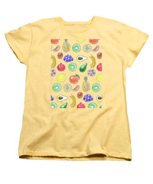 Fruit Pattern  Women's T-Shirt (Standard Cut) by Katerina Kirilova