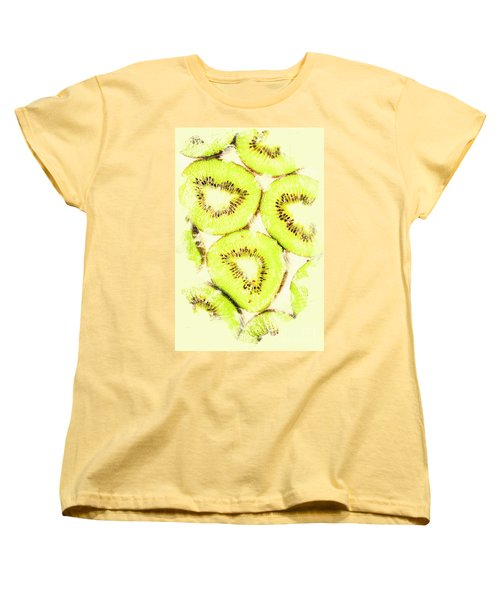 Full Frame Shot Of Fresh Kiwi Slices With Seeds Women's T-Shirt (Standard Cut) by Jorgo Photography - Wall Art Gallery