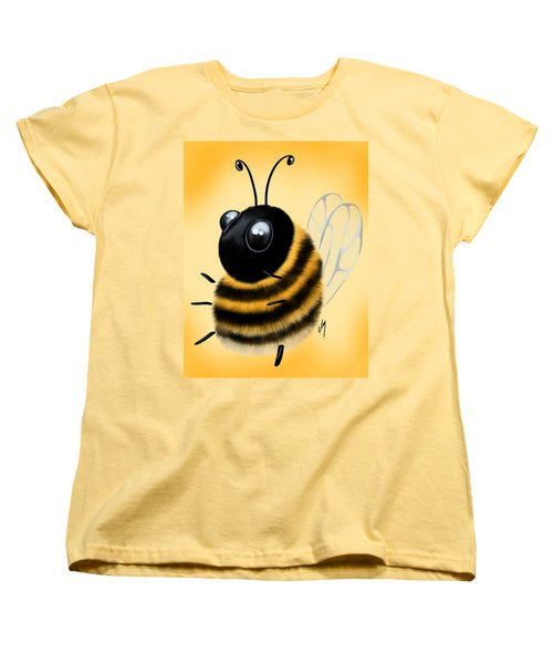 Women's T-Shirt (Standard Cut) featuring the painting Funny Bee by Veronica Minozzi