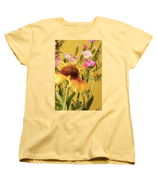 Gaillardia And Dianthus Women's T-Shirt (Standard Cut) by Richard Rizzo
