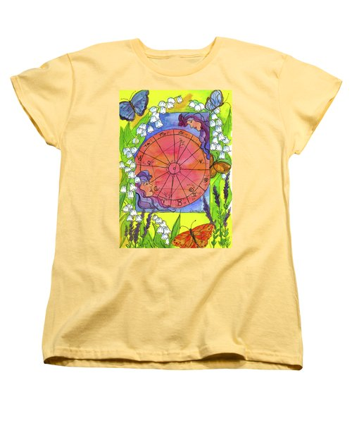 Women's T-Shirt (Standard Cut) featuring the painting Gemini by Cathie Richardson