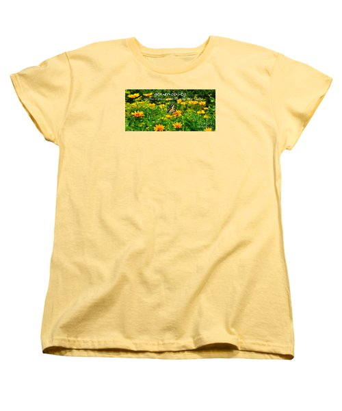 Women's T-Shirt (Standard Cut) featuring the photograph Gen Er Os I Ty  by Diane E Berry