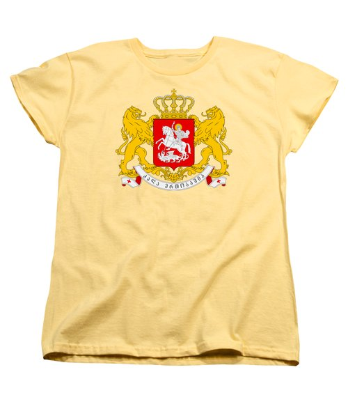Women's T-Shirt (Standard Cut) featuring the drawing Georgia Coat Of Arms by Movie Poster Prints