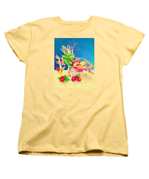 Gifts From The Yard Watercolor Women's T-Shirt (Standard Cut) by Christina Lihani