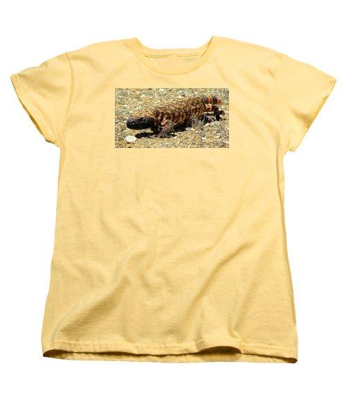 Gila Monster On The Prowl Women's T-Shirt (Standard Cut) by Brenda Pressnall