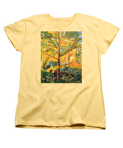 Gingko Tree Women's T-Shirt (Standard Cut) by Valerie Ornstein