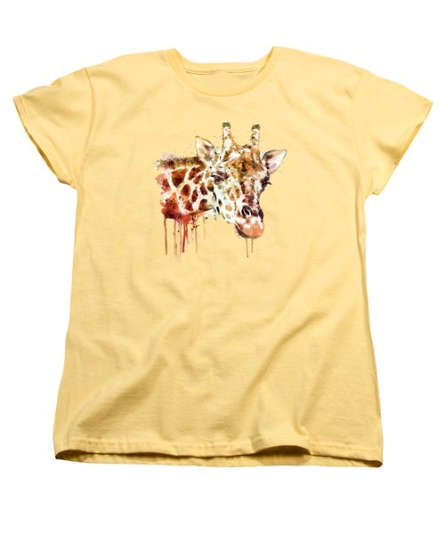 Giraffe Head Women's T-Shirt (Standard Cut) by Marian Voicu