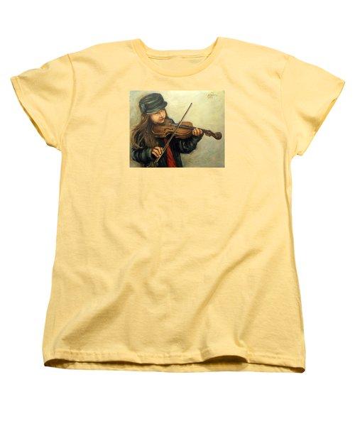 Girl And Her Violin Women's T-Shirt (Standard Cut)