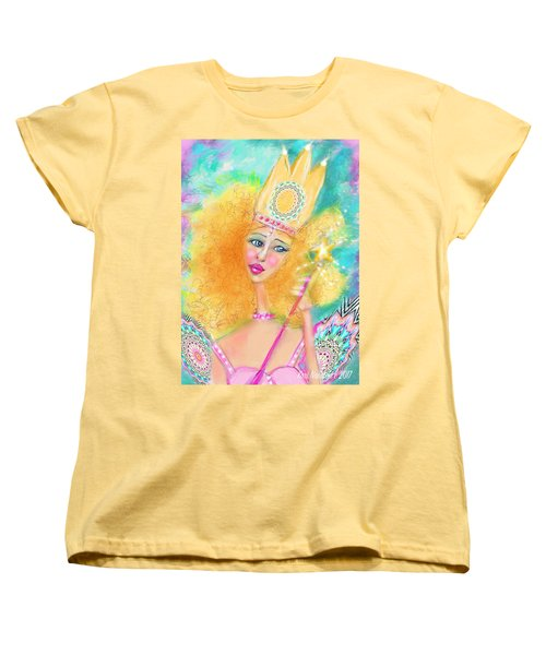 Women's T-Shirt (Standard Cut) featuring the digital art Glenda by Kari Nanstad