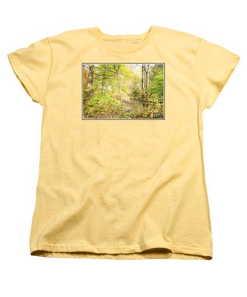 Glimpse Of A Stream In Autumn Women's T-Shirt (Standard Cut) by A Gurmankin