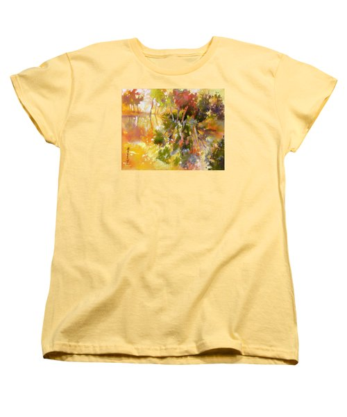 Women's T-Shirt (Standard Cut) featuring the painting Glow by Rae Andrews