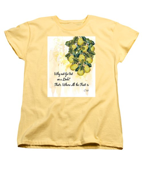 Women's T-Shirt (Standard Cut) featuring the digital art Go Out On A Limb by Colleen Taylor