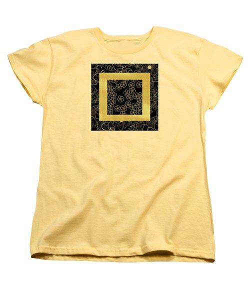 Gold And Black Women's T-Shirt (Standard Cut) by Bonnie Bruno