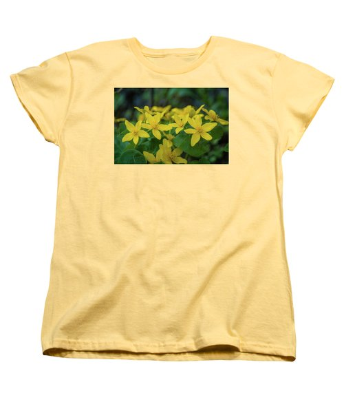 Women's T-Shirt (Standard Cut) featuring the photograph Gold In The Marsh by Bill Pevlor