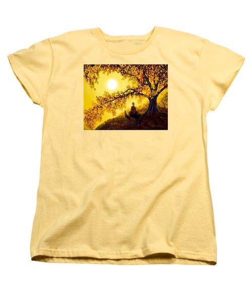 Golden Afternoon Meditation Women's T-Shirt (Standard Cut) by Laura Iverson