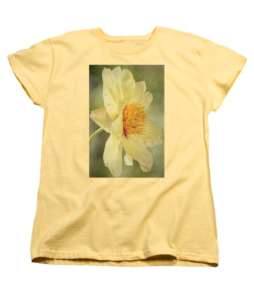 Golden Bowl Tree Peony Bloom - Profile Women's T-Shirt (Standard Cut) by Patti Deters