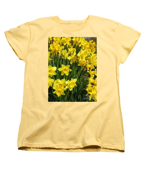 Women's T-Shirt (Standard Cut) featuring the photograph Golden Daffodils by Phil Banks