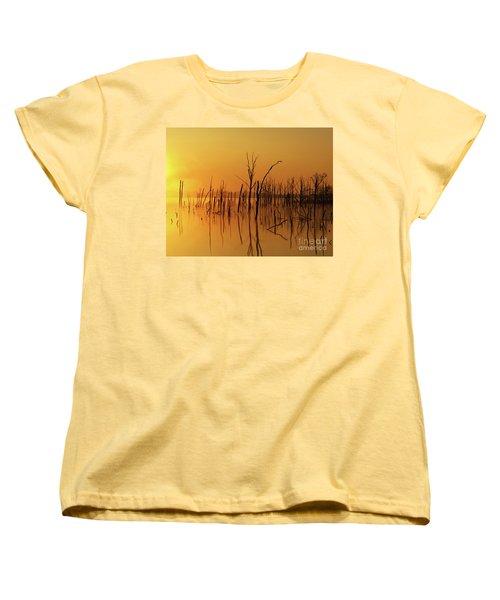 Golden Reflections Women's T-Shirt (Standard Cut) by Roger Becker