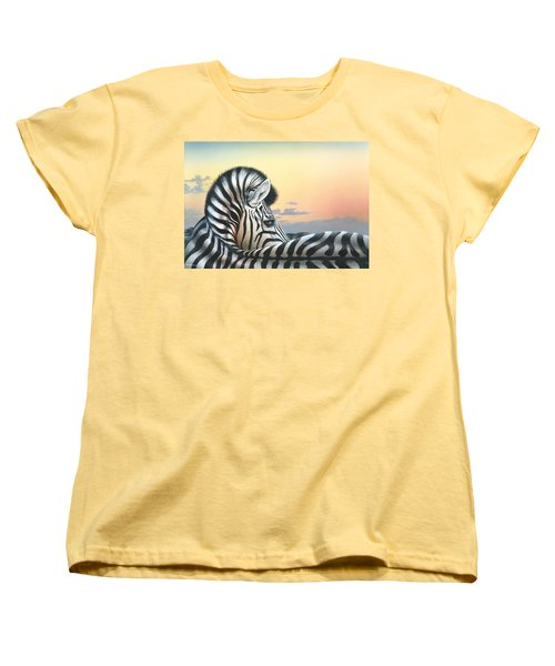 Women's T-Shirt (Standard Cut) featuring the painting Golden Sky by Mike Brown