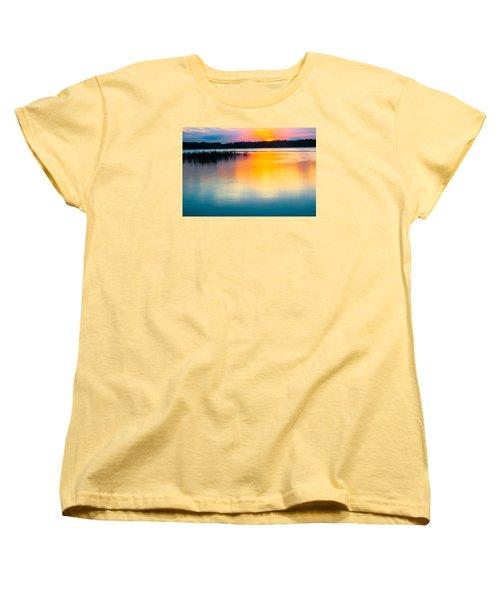 Golden Sunset Women's T-Shirt (Standard Cut) by Parker Cunningham