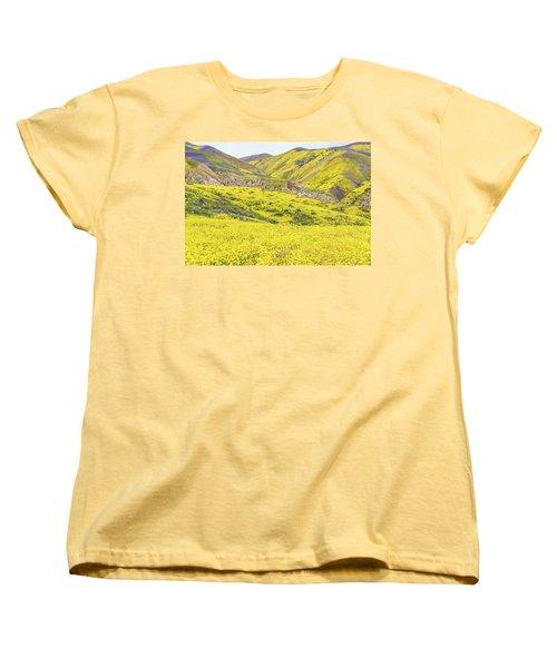 Women's T-Shirt (Standard Cut) featuring the photograph Goldfields And Temblor Hills by Marc Crumpler
