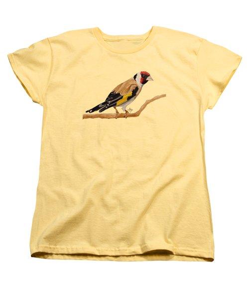 Goldfinch Women's T-Shirt (Standard Cut) by Angeles M Pomata