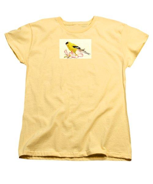 Goldfinch Spring Women's T-Shirt (Standard Cut) by Angela Davies