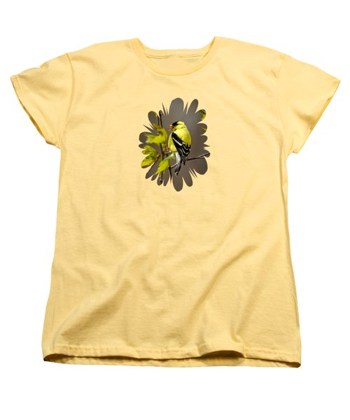 Goldfinch Suspended In Song Women's T-Shirt (Standard Cut) by Christina Rollo