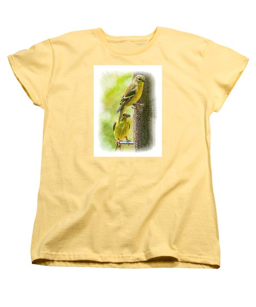Goldfinches Women's T-Shirt (Standard Cut) by Constantine Gregory
