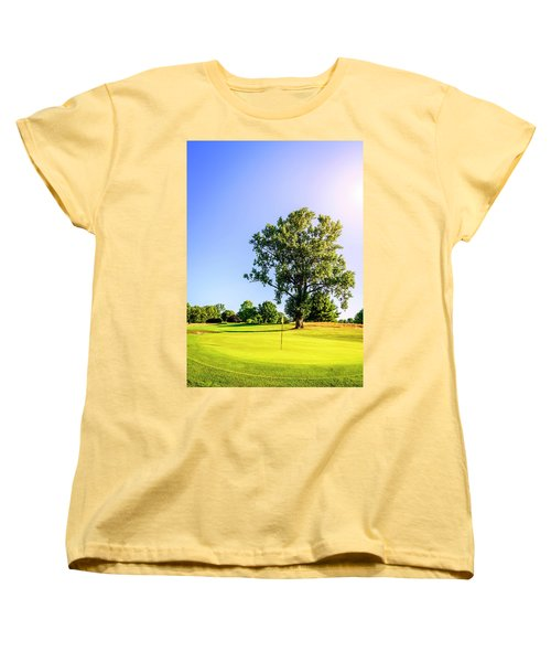 Women's T-Shirt (Standard Cut) featuring the photograph Golf Course by Alexey Stiop