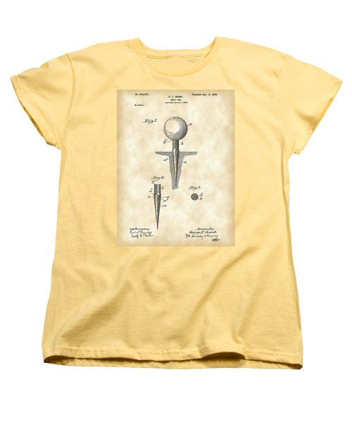Golf Tee Patent 1899 - Vintage Women's T-Shirt (Standard Cut) by Stephen Younts