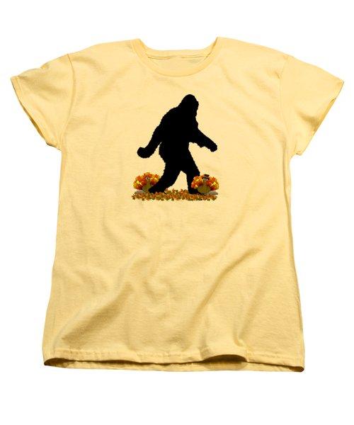 Gone Thanksgiving Squatchin' Women's T-Shirt (Standard Cut) by Gravityx9   Designs