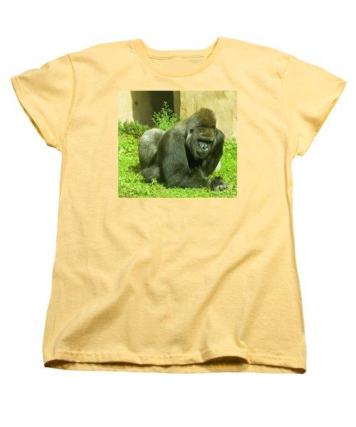 Gorilla Women's T-Shirt (Standard Cut) by Irina Afonskaya