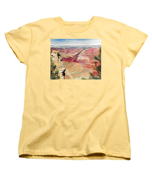 Grand Canyon Overlook Women's T-Shirt (Standard Cut) by Sherril Porter