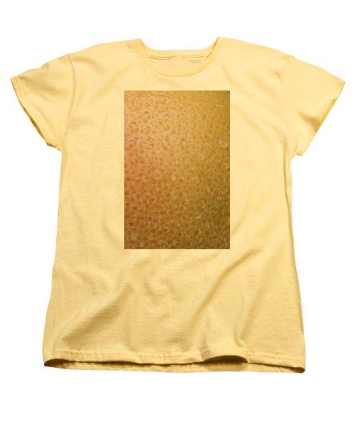 Grapefruit Skin Women's T-Shirt (Standard Cut) by Steve Gadomski