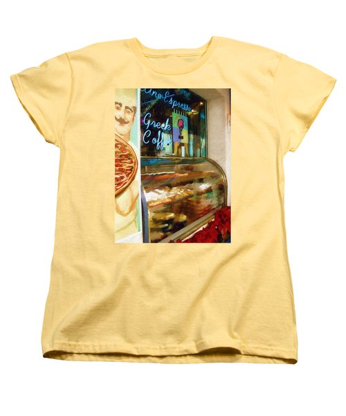 Women's T-Shirt (Standard Cut) featuring the photograph Greek Coffee by Sandy MacGowan