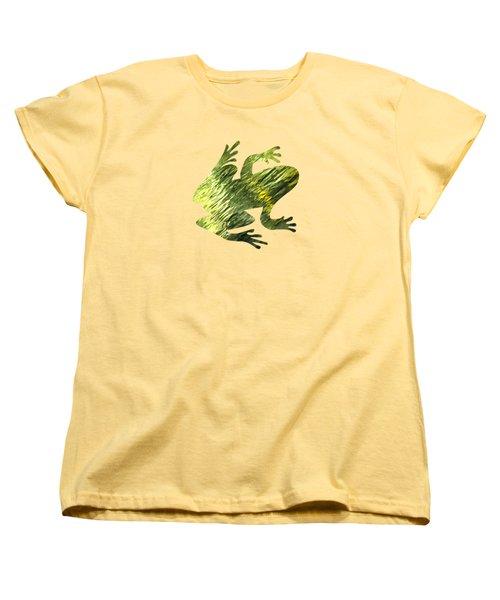 Green Abstract Water Reflection Women's T-Shirt (Standard Cut)