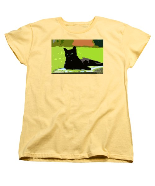 Green Eyes Women's T-Shirt (Standard Cut) by David Lee Thompson