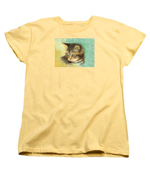 Women's T-Shirt (Standard Cut) featuring the painting Green Eyes by Terry Webb Harshman