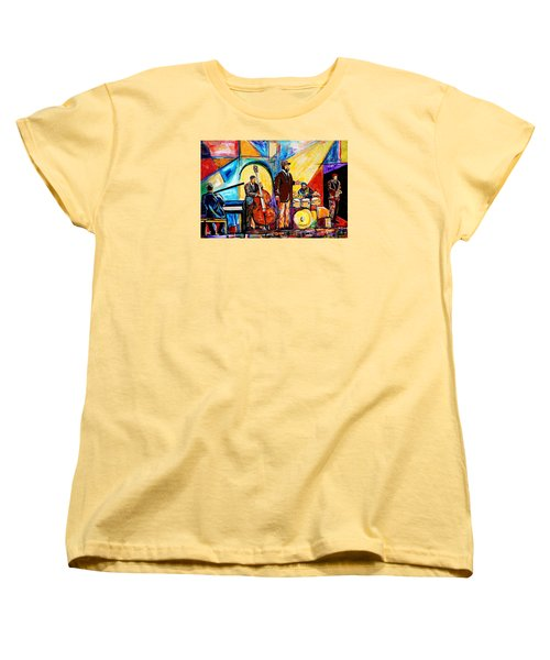 Gregory Porter And Band Women's T-Shirt (Standard Cut) by Everett Spruill