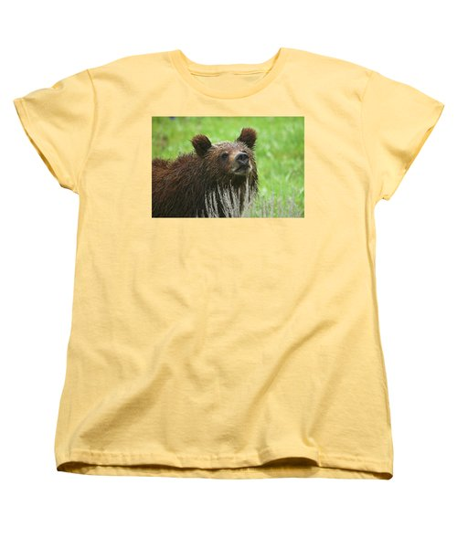 Women's T-Shirt (Standard Cut) featuring the photograph Grizzly Cub by Steve Stuller