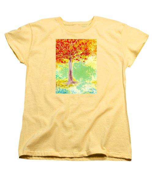 Growing Love Women's T-Shirt (Standard Cut) by Claudia Ellis