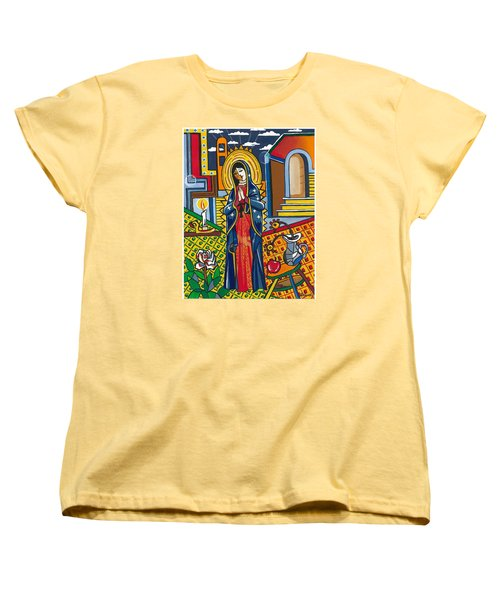 Guadalupe Visits Picasso Women's T-Shirt (Standard Cut) by James Roderick