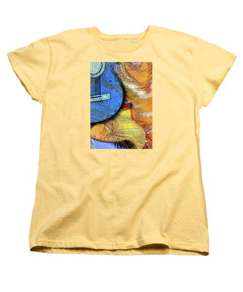 Women's T-Shirt (Standard Cut) featuring the painting Guitar Music by Allison Ashton