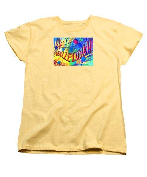 Halleluyah Women's T-Shirt (Standard Cut) by Nancy Cupp